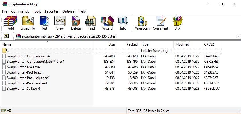 Swap Hunter EX4 Files